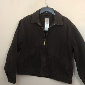 Carhartt coat large dark brown cotton